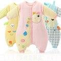 0-3 лет ребенок, спящий в осенью и зимой детская ребенка спальный мешок добавляется, чтобы оседлать анти kick теплый хлопок.