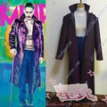 Suicide Squad joker Batman Harley Quinn Costume Batman Arkham City Joker cosplay costume leather Jacket pant set Outfit
