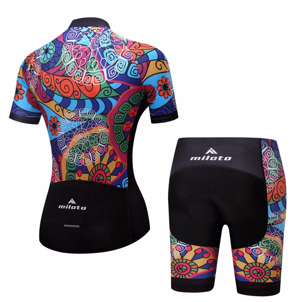 Aliexpress.com   Buy Women s Bicycle Clothing Set Short Sleeve Race Fit  Cycling Jersey   Mountain Bike Shorts Kit Ladies Cycling Set Reflective  from ... f64a69a5a