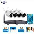 1080 P Sistema de CFTV Sem Fio 2 TB HDD NVR 2MP 4CH Poderoso IP IR-CUT Bala CCTV Sistema de Câmera de Segurança IP Kits de vigilância