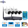 1080P Wireless CCTV System 2TB HDD 2MP 4CH Powerful NVR IP IR-CUT Bullet CCTV Camera IP Security System Surveillance Kits