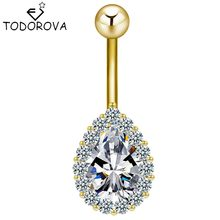 Todorova แหวน Water Drop Dangle Cubic Zirconia (China)