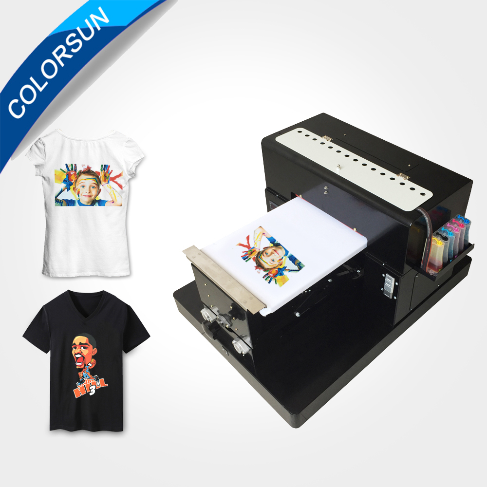 A3 size T-shirt Flatbed printer Digital Printing machine for printing T-shirt printer A3 size digital textile printer купить недорого в Москве
