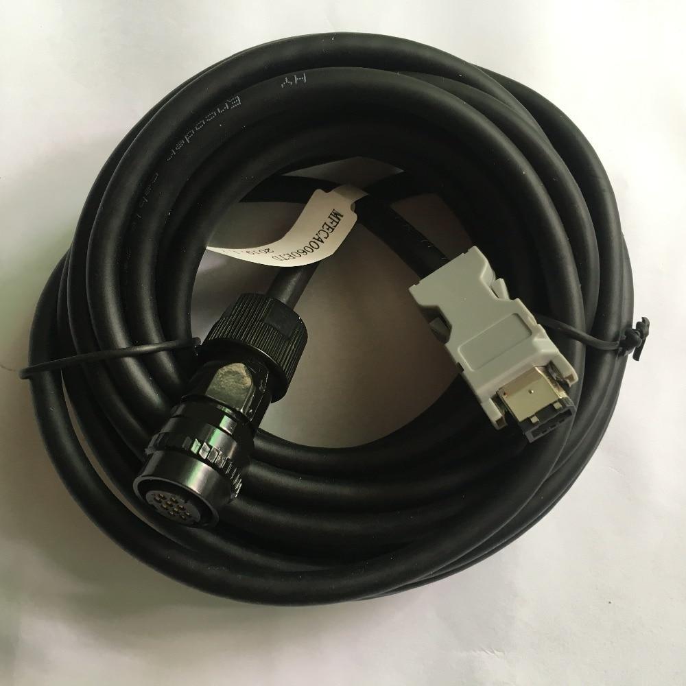 motor encoder cable connector servo motor coder plug 10pin 5m 6m MFECA0060ETDmotor encoder cable connector servo motor coder plug 10pin 5m 6m MFECA0060ETD