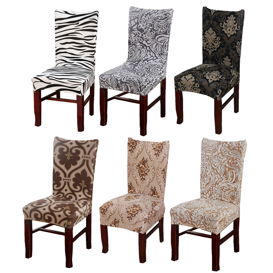 PICTURESQUE Spandex Stretch Dining Room Chair Slipcovers Set of 4