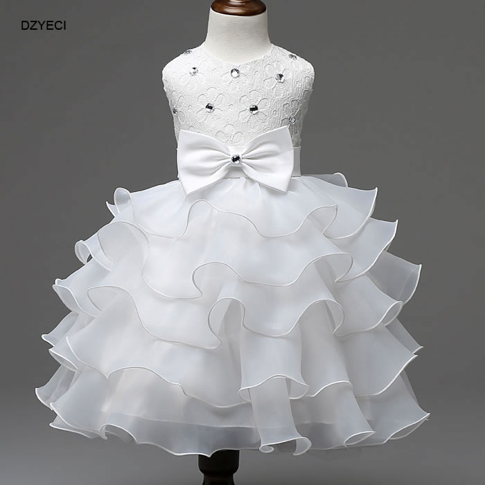 Christmas Costume For Baby Girl Wedding Party Dress Up New Year Infant  Toddler Bow Diamond Lace Ball Gown Sophia Princess Dress-in Dresses from  Mother ... 5db7f45243a5