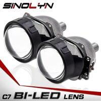 Sinolyn автомобиль Би светодио дный объектив лампы проектора линзы H1 H4 H7 9005 90006 светодио дный свет модернизации DIY фары комплект 3,0 ''5500 К