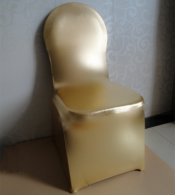metal chair covers folding chairs target wedding elastic cover banquet metalic glossy golden in from home garden on aliexpress com alibaba