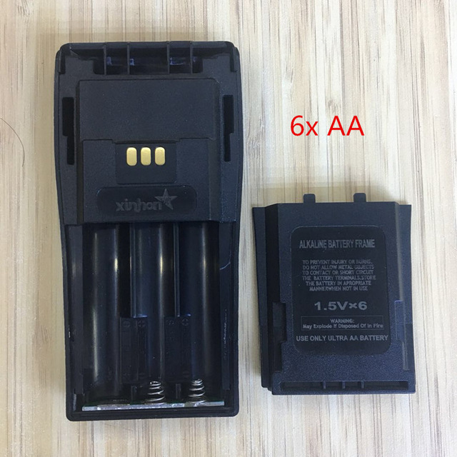 5X  6 AA Battery Case Box For Motorola DEP450 DP1400 PR400 CP140 CP040 CP200 EP450 CP180 GP3188 Etc Wakie Talkie With Belt Clip