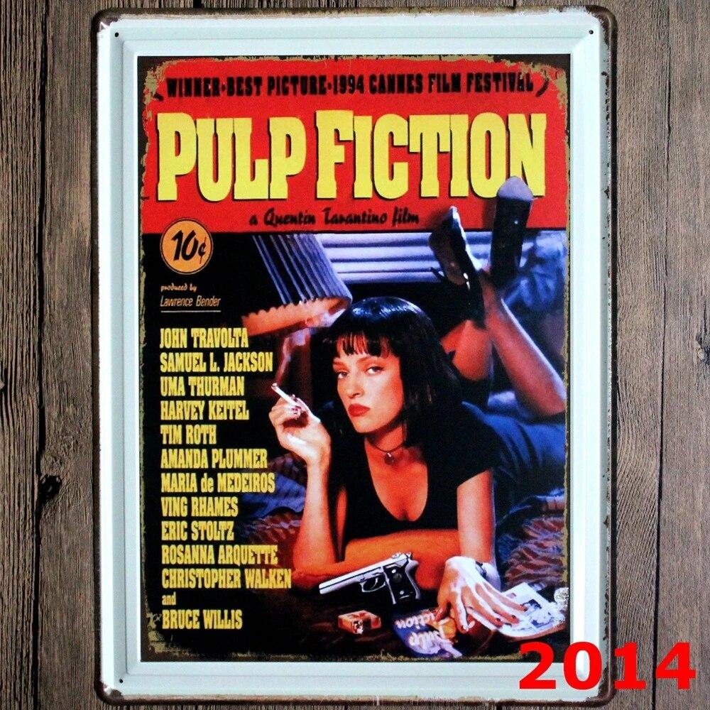 PULP FICTION Neue große weißblech zeichen movie poster Kunst cafe ...