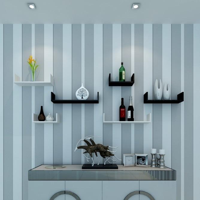 creative lattice mountain subtype decorative wall shelf tv wall