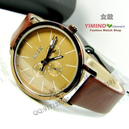 Free shipping famous brand luxury unisex timepiece quartz distinguished woman dress jewelry big watches leather strap lover gift