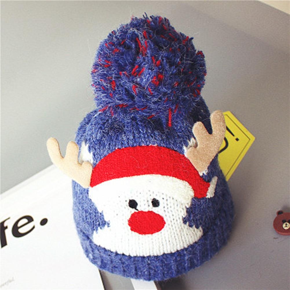 Christmas Hats Kids Infants Winter Warm Crochet Knit Hat With ...