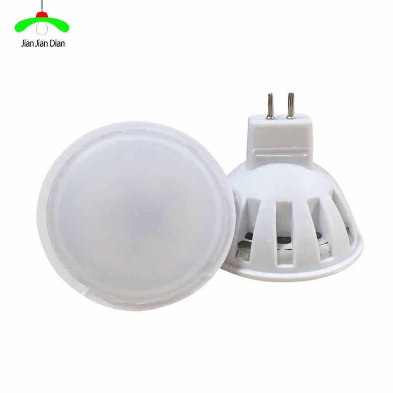 10pcs/lot mr16 led lamp 220v light bulb 5w power led spotlight smd 2835 20LED chips energy saving lamp for chandeliers lampada