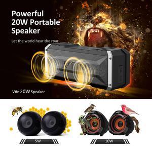 Image 2 - VTIN Punker Портативный беспроводной Bluetooth динамик 20 Вт Выход двойной 10 Вт водители Открытый водонепроницаемый динамик с микрофоном для смартфонов
