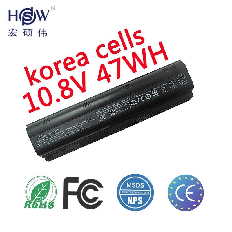 HSW batterie d'ordinateur portable POUR HP Compaq MU06 MU09 CQ42 CQ32 batteries G62 G72 batterie pour ordinateur portable G42 593553-001 DM4 593554-001 batterie
