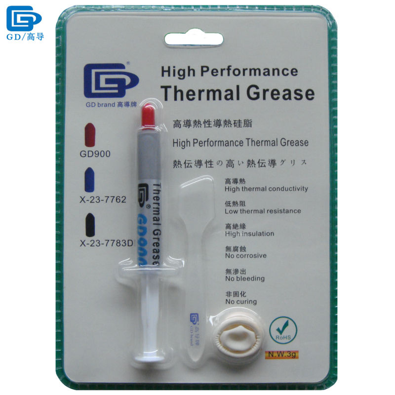 GD900 Thermal Conductive Grease Paste Silicone Plaster Heat Sink Compound High Performance Net Weight 3 Grams For CPU Cooler BR3 gd900 thermal conductive grease paste silicone plaster heat sink compound 6 pieces net weight 7 grams high performance gray sy7