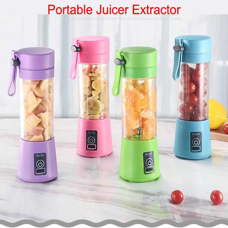 Modo De Carregamento USB Multiuso Doméstico Portátil Pequeno Extrator Juicer Espremedor de Frutas Liquidificador Whisk Mixer