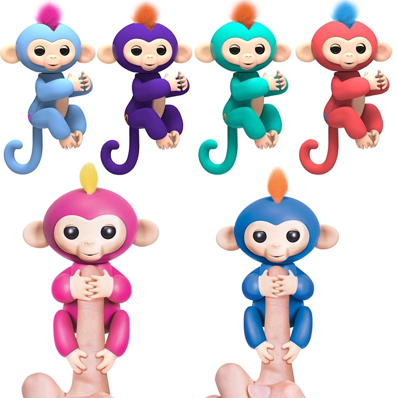 happy monkey pack Finger Monkey Toy Interactive Smart Colorful Finger Smart Induction Toys Kid Kawaii Finger Toy finger monkey