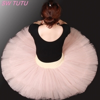 Free Shipping Nude Half Ballet Tutu For Girls Women Pancake Tutu Ballet Costumes Girls Ballerina DressBT8923