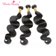 Wonder Beauty Brazilian Body Wave 1 Bundle Non-Remy Hair 100% Human Hair Natural Color 8-26 Inch Can Be Straightened and Dyed