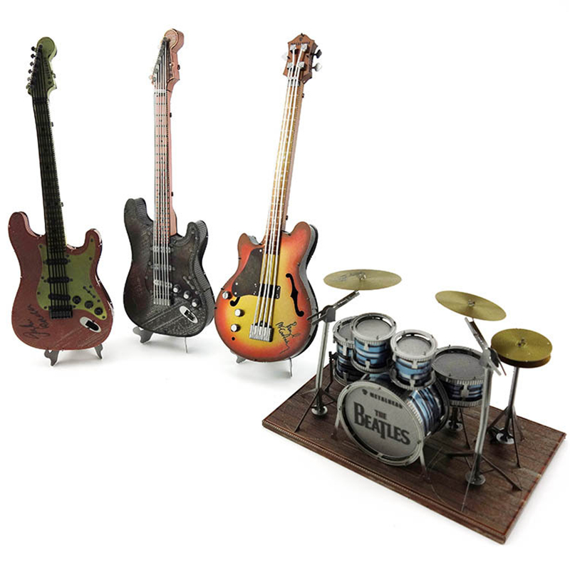 Toy Model Guitar Jigsaw-Cut Puzzles Musical-Instrument Gift Home-Decor Adults Manual