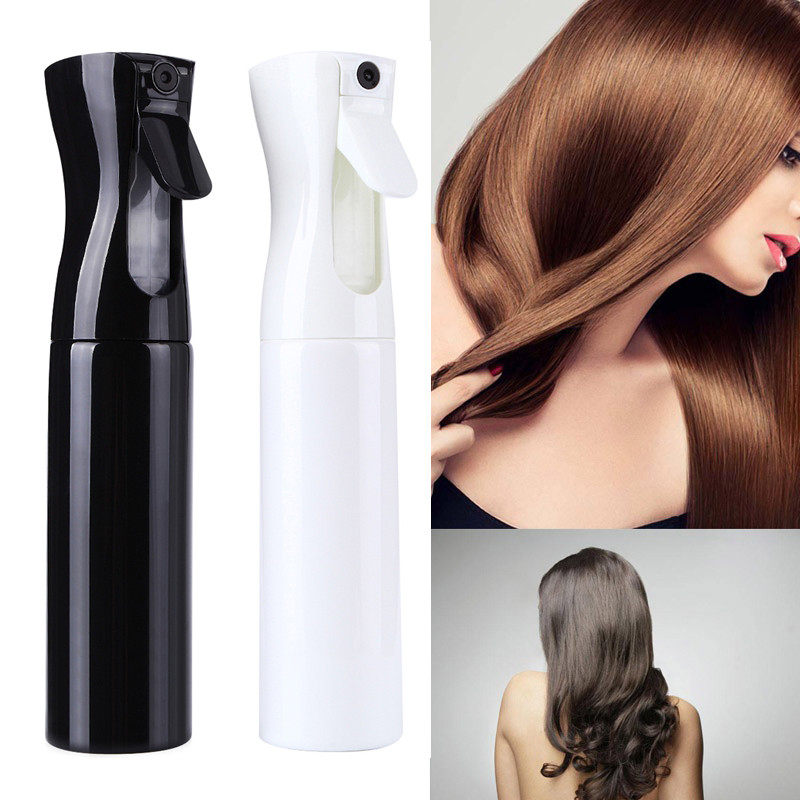 300ML Hairdressing Spray Empty Bottle Black Refillable Mist Bottle Salon Barber Hair Tools Water Sprayer Care Tools 2018