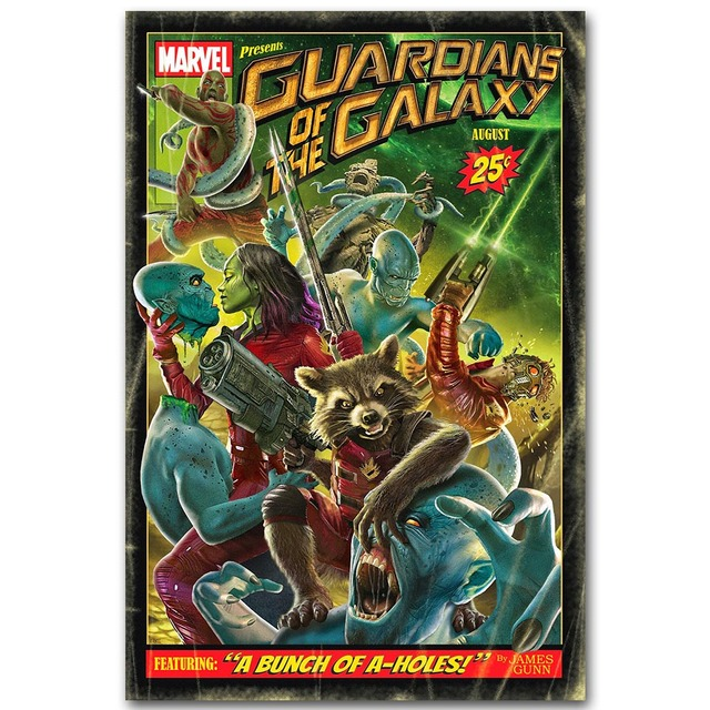 Guardians of the Galaxy Art Silk Fabric Poster Print Movie Wall Pictures Living Room Decor Star Lord Rocket 013