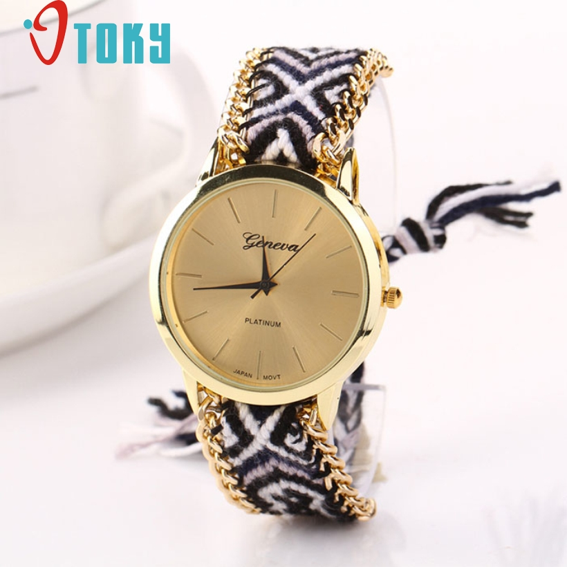 Creative Luxury Watch Women Knitted Braided Weaved Rope Band Bracelet Dial Wrist Quartz Watches bayan kol saati montre femme montre femme retro design pu leather band green dial analog alloy quartz wrist watch bayan kol saati lady ladies wristwatches