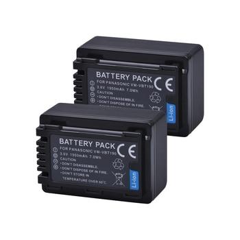 Tectra 2PCS VW-VBT190 VW VBT190 Li-ion Battery for Panasonic HC-V110 HC-V130 HC-V160 HC-V180 HC-V201 HC-V210 HC-V230 HC-V250 фото