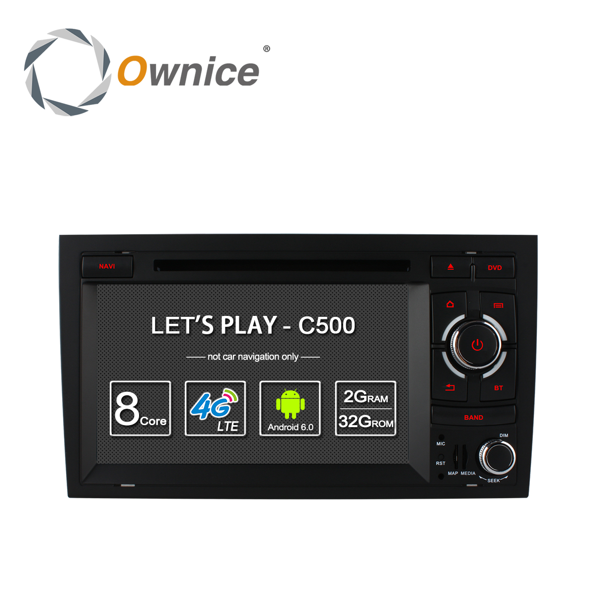 imágenes para Ownice C500 LTE Octa 8 Core 4G SIM ANDROID 6.0 DVD DEL COCHE para Audi A4 2002-2008 wifi GPS BT Radio 2 GB RAM 32 GB ROM