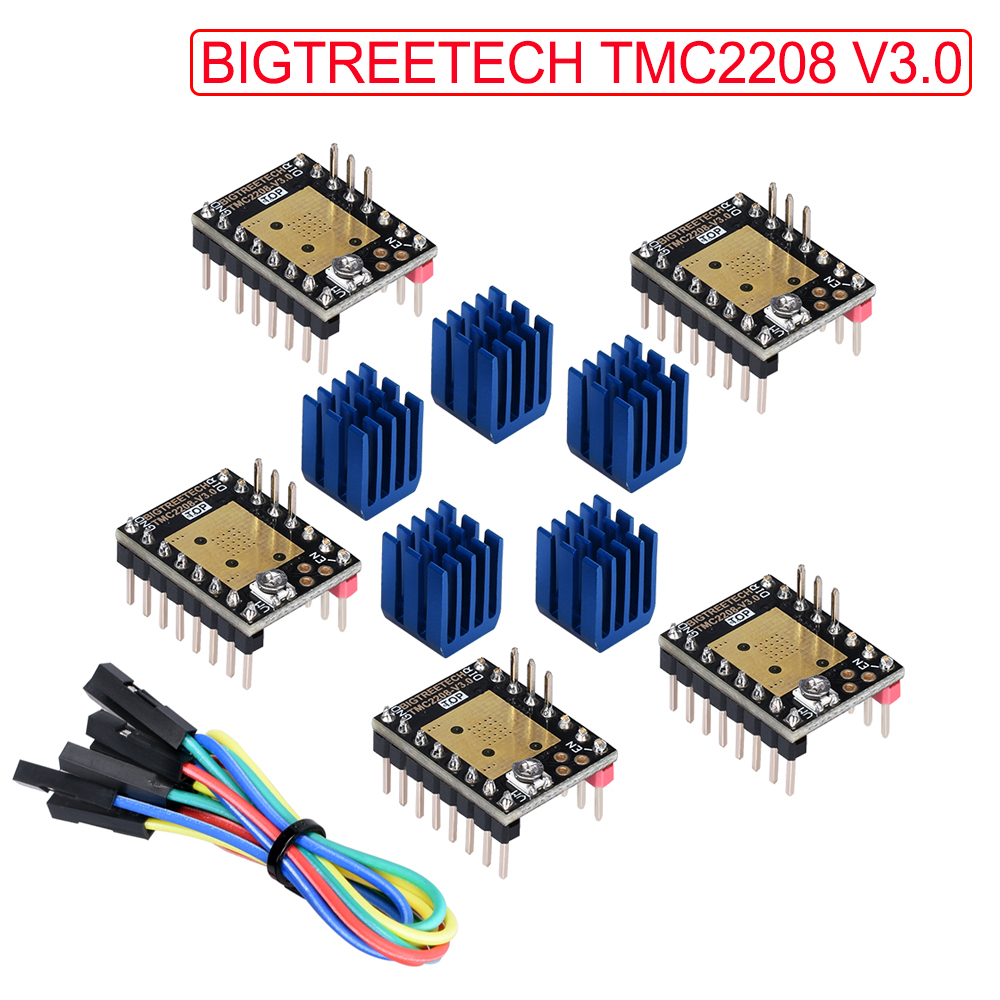 BIGTREETECH TMC2208 V3.0 Stepper Motor Driver 3D Printer Parts VS TMC2209 TMC2130 To SKR V1.3 MKS GEN L Ramps 1.6 Control Board