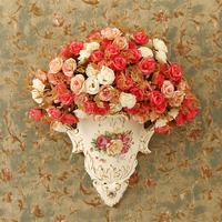 The New European Pastoral Retro Vase Floral Mural Wall Decoration Wall Decoration Porcelain