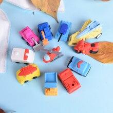 1 шт. 3D высококачественные кавайные канцелярские школьные принадлежности подарки для детей, игрушка для мальчиков Новинка 3D маленький автомобильный резиновый ластик