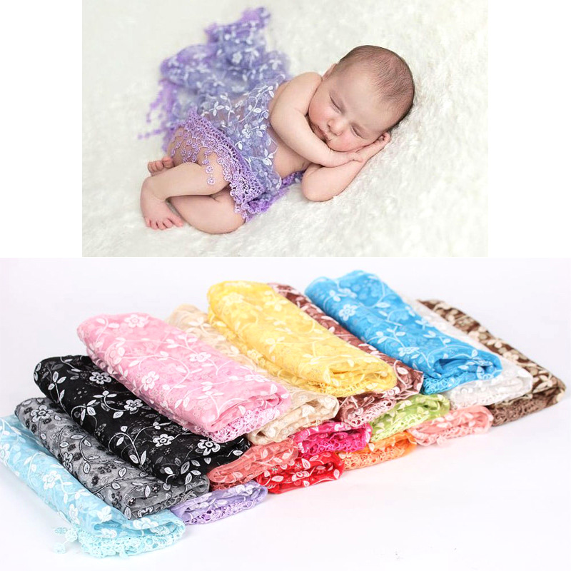 Cute Newborn Baby Embroidery Lace Blanket Wrap Floral Printed Towel Receiving Blanket Infant Photo Props Accessories pink floral towels