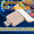 Lightning+2.0 Usb Flash Drive OTG For Iphone 6/5/Ipad/Ipod, Real 8gb 16gb 32gb 64gb Pendrives 128GB 256GB Pen Drive 512GB Gift