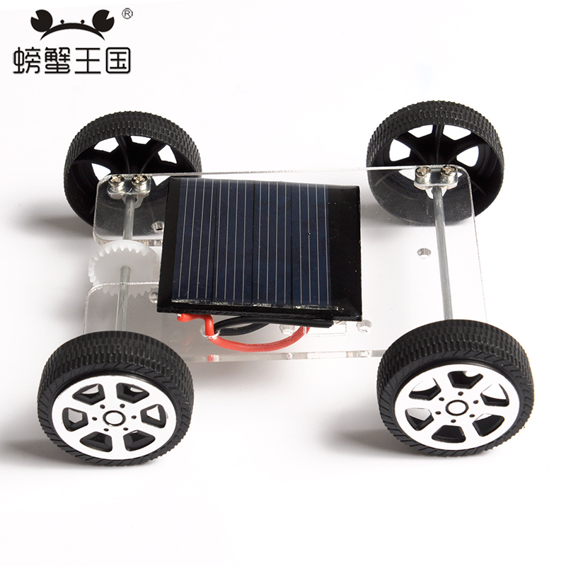PW M92 DIY Mini RC Solar Car Technology Invention Funny