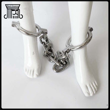 stainless steel metal legcuffs bdsm bondage sex toys for couples sex toys bdsm with chain slave fetish Shackles Leg Bondage erotic games bdsm fetish exquisite beauty of stainless steel neck jacket slave collar bdsm bondage sex toys for couples