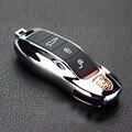 Серебряный FOB Дистанционного Ключа Случае Крышка клавиатуры Измененного Ключа Shell Замена Ремонт Porsche Макан 911 boxster cayman Cayenne для Panamera