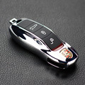 Silver FOB Remote Key Case Key Cover Modified Key Shell Replacement Refit Porsche Cayenne Macan 911 boxster cayman for Panamera
