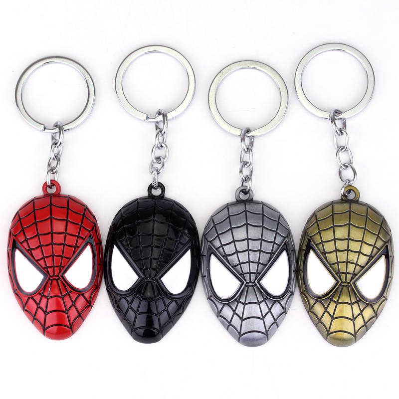 Feimeng biżuteria superbohater Spider-man brelok Super hero Spiderman czerwona maska metalowy brelok do kluczy dla mężczyzn moda brelok do kluczyków do samochodu Chaveiro