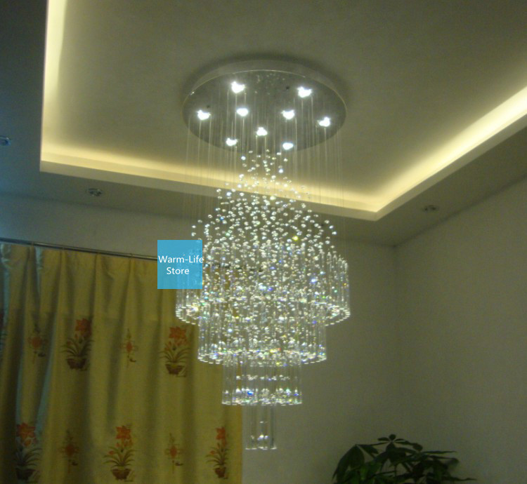 ... Contracted Personality Living Room Restaurant Crystal Ceiling  Chandelier Led Crystal Light Big Crystal Lamp Diameter 50cm ... Part 65