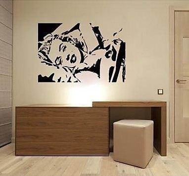 Aliexpresscom  Buy Marilyn Monroe Silhouette Wall Vinyl Stickers - Custom reusable vinyl wall decals