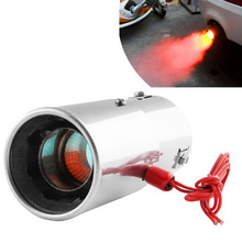 Automobile Refit Parts Fire Belt Lamp Tail Throat Red Led Jet Tail Throat Stainless Steel Exhaust Silencer