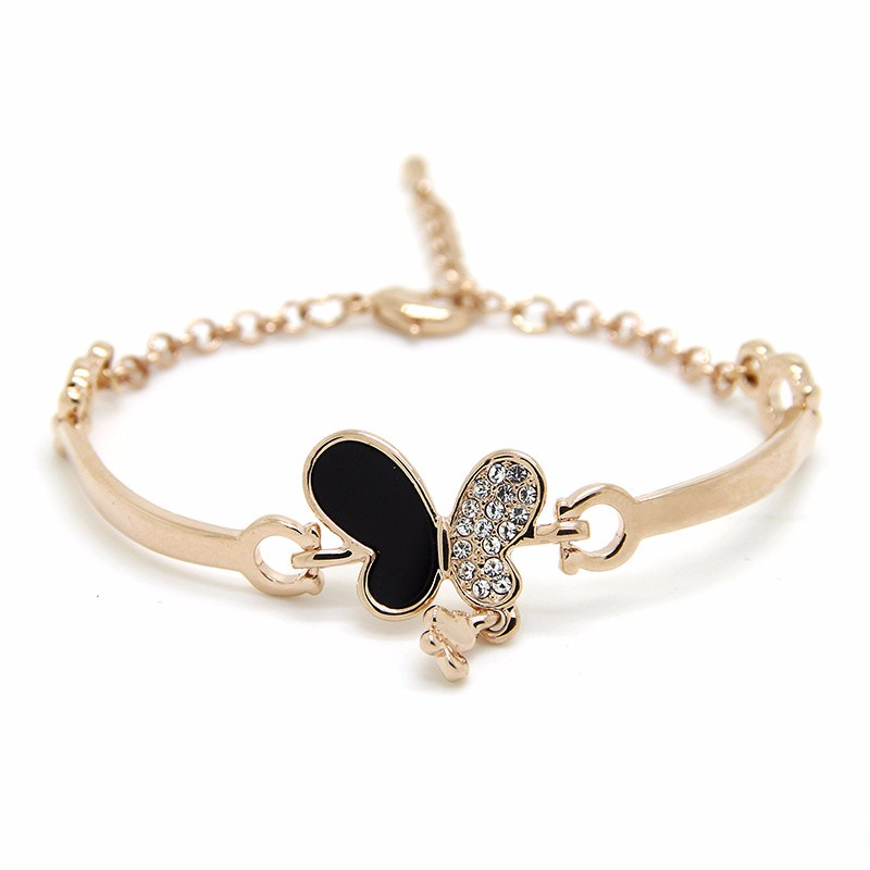 2019 Real Crystal from Austrian Love Bracelet Bangles Wholesale, 925 Jewelry Gold-palated Fashion Beads Woman Charm