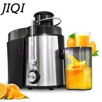 JIQI Multifuncation электрическая соковыжималка фруктовый сок питьевой машина автоматическая Овощной цитрусовые блендер низкая Скорость Extractor Сок
