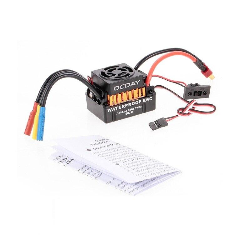 Impermeable 60A sin escobillas coche Control electrónico de velocidad ESC