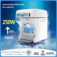 HK168 electric commercial cube ice crusher shaver machine for commercial shop