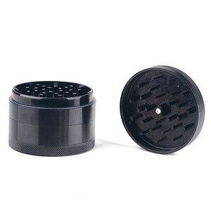 Image 4 - Черный, 4 слоя металлический измельчитель табака дым травяной жернов для курительных принадлежностей шлифовальный станок детекторы инструменты для труб высокого качества