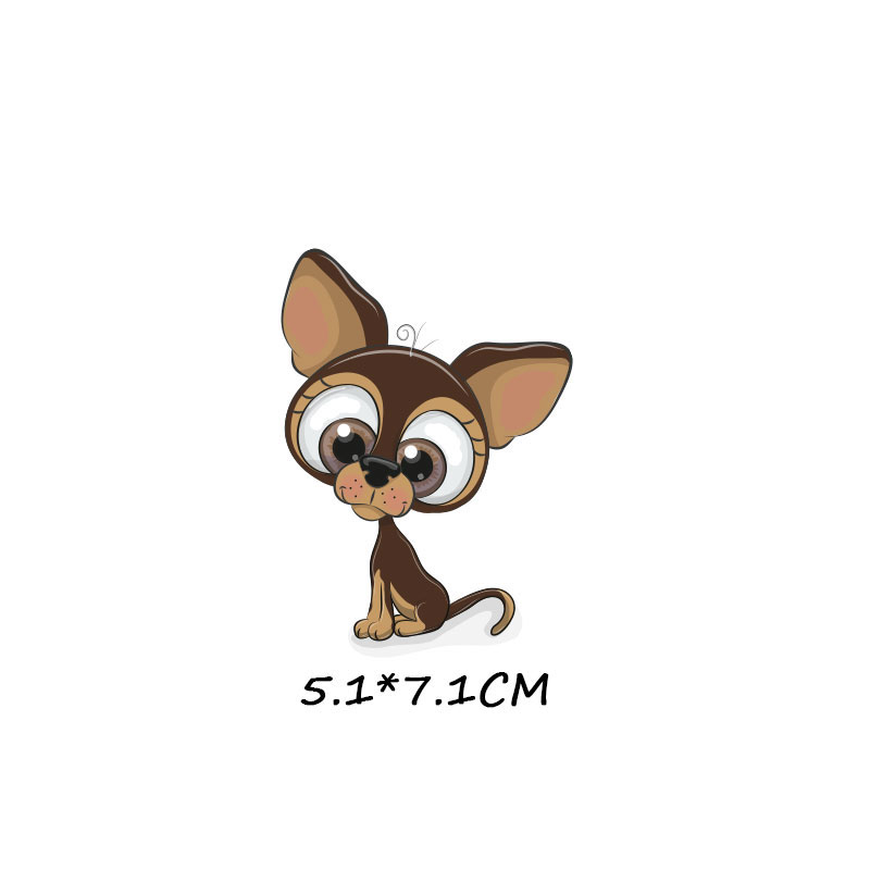 Милые маленькие животные Единорог Сова собака кошка патч для одежды стикер для детей мальчик девочка DIY патчи Футболка теплопередача Винил - Цвет: zt1097